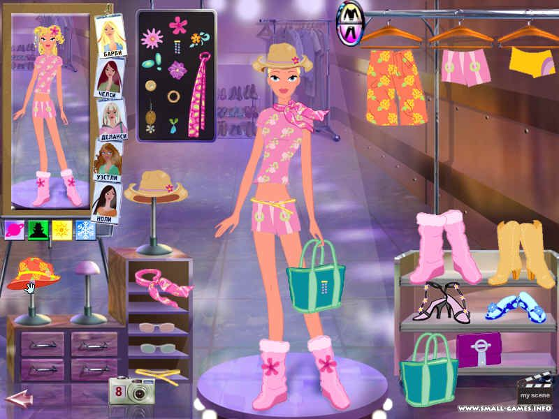 Барби покоряет голливуд скачать игру бесплатно.