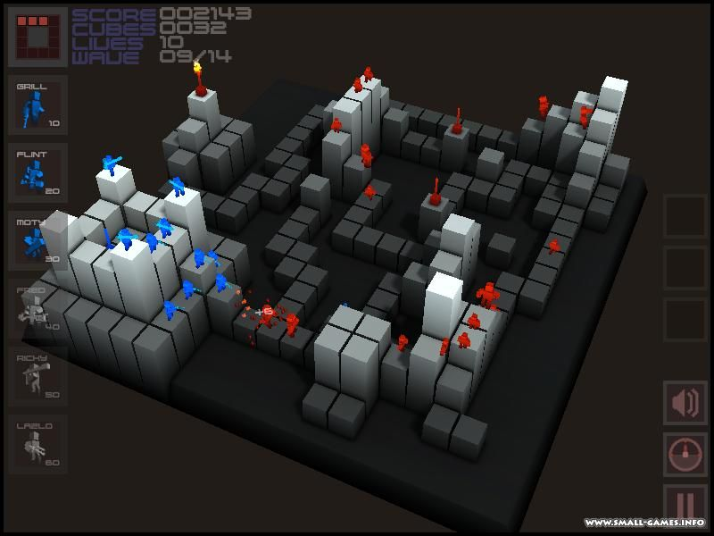 Cubemen is a fast paced, action packed, original 3D Tower Defense game