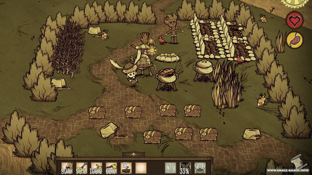 Don't starve v1. 269653 + all dlcs / don't starve together v273770.