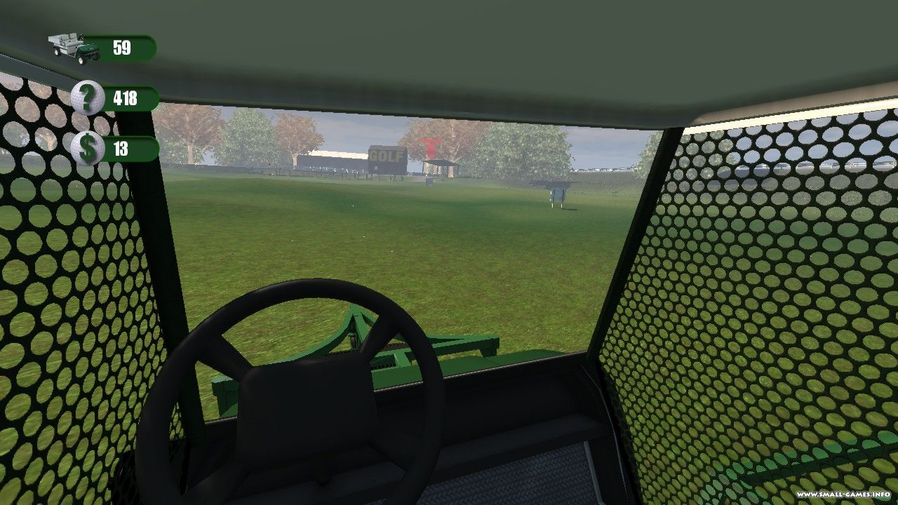 Driving Range Golf Ball Picker Upper Cart Simulator