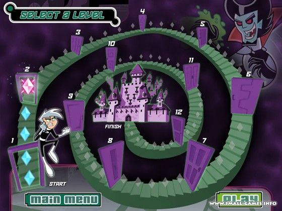 danny phantom ghost frenzy game