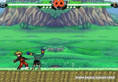 "Naruto street battle ""большие"" игры, файтинги, наруто."