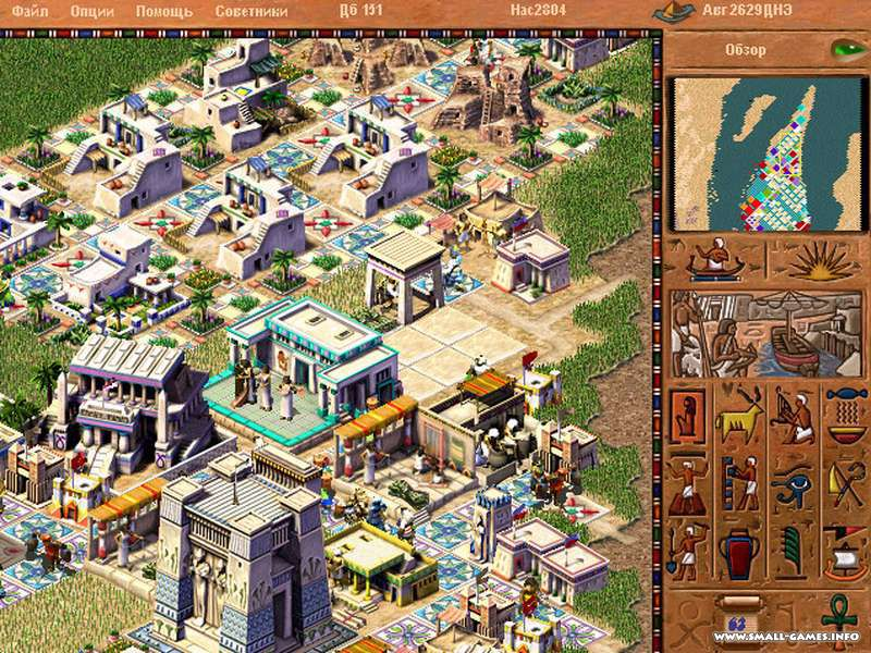 Pharaoh + cleopatra (1999). Полная русская версия. Скачать игру.
