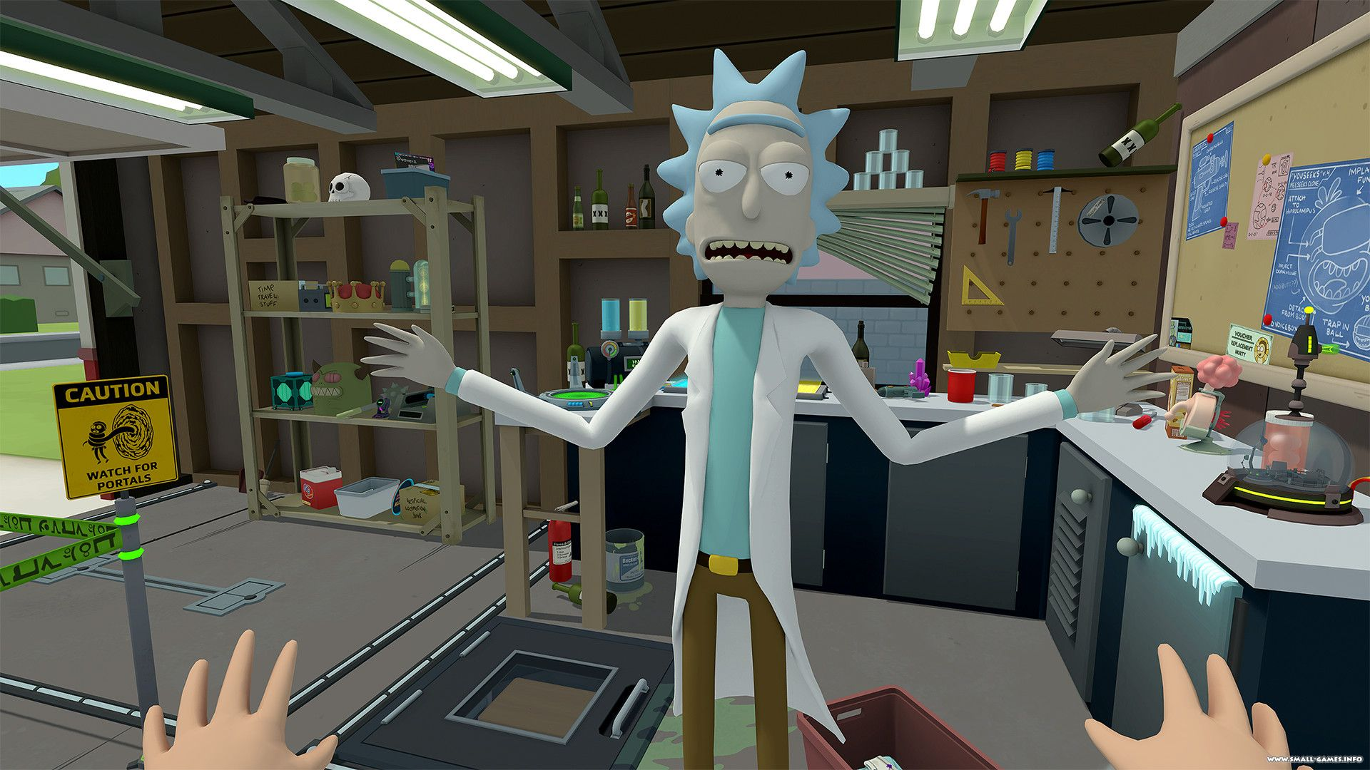 Скриншот *Rick and Morty Virtual Rick-ality [PS4 VR Only] 5.05 / 6.72 [EUR] (2018) [Английский] (v1.00)*