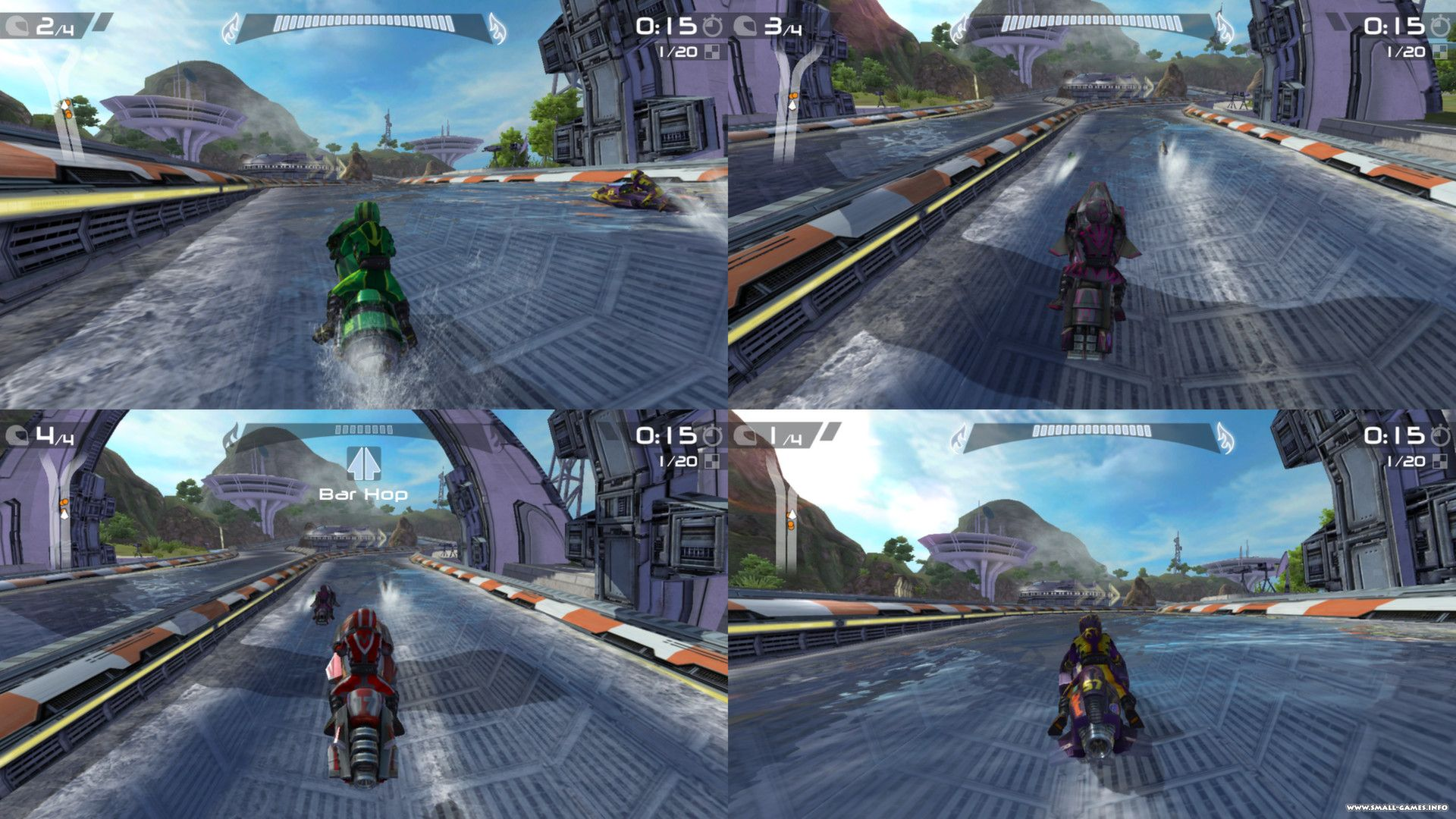 мини игры на гидроциклах: