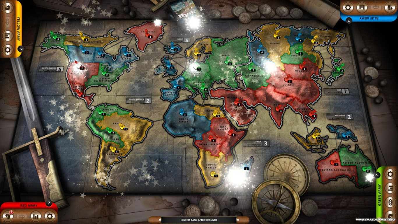 Domination game risk