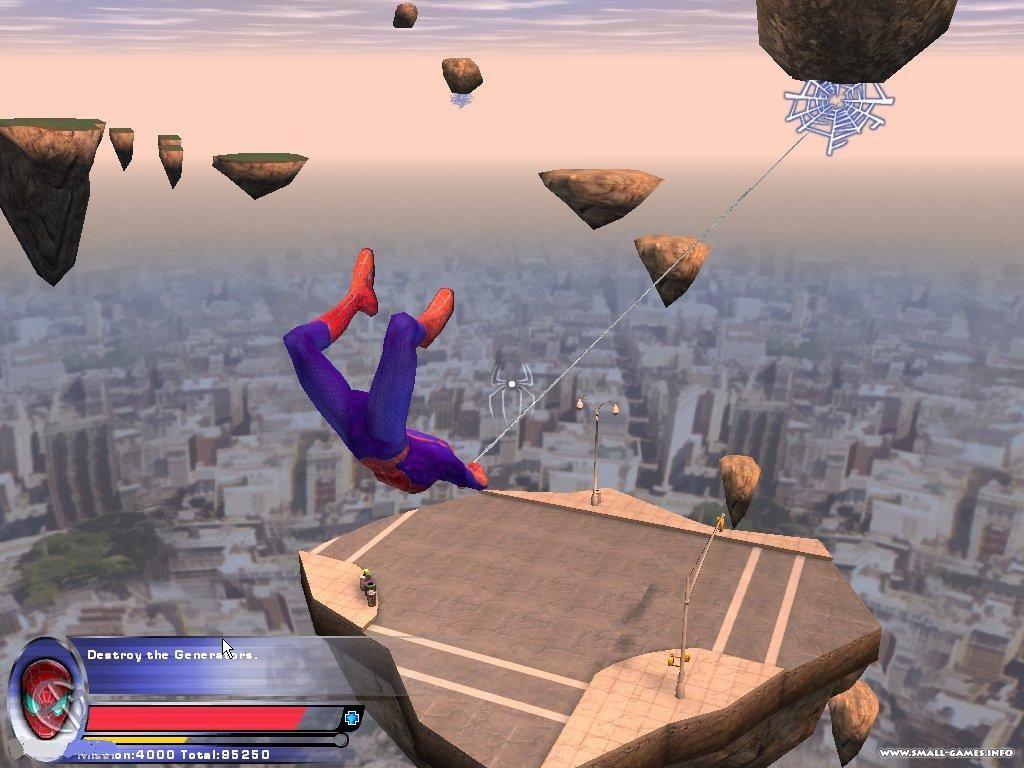 Игры человек паук 2 3д играть
