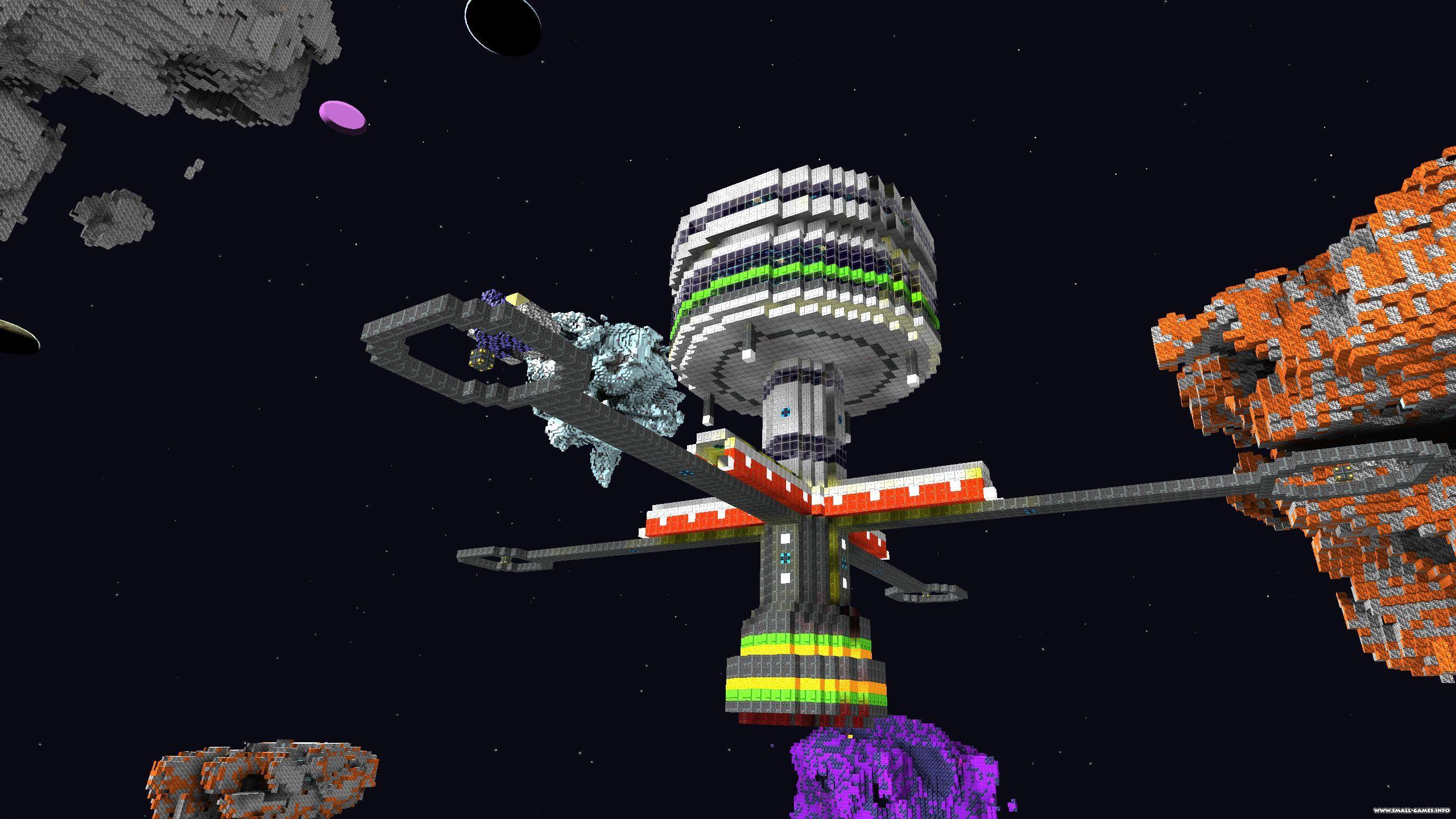 Game Space Sandbox Block Build Ship
