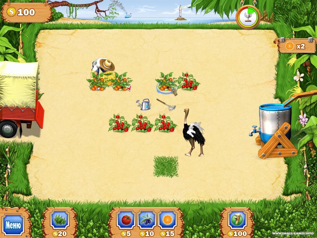 Скриншоты к игре Тропическая ферма.
