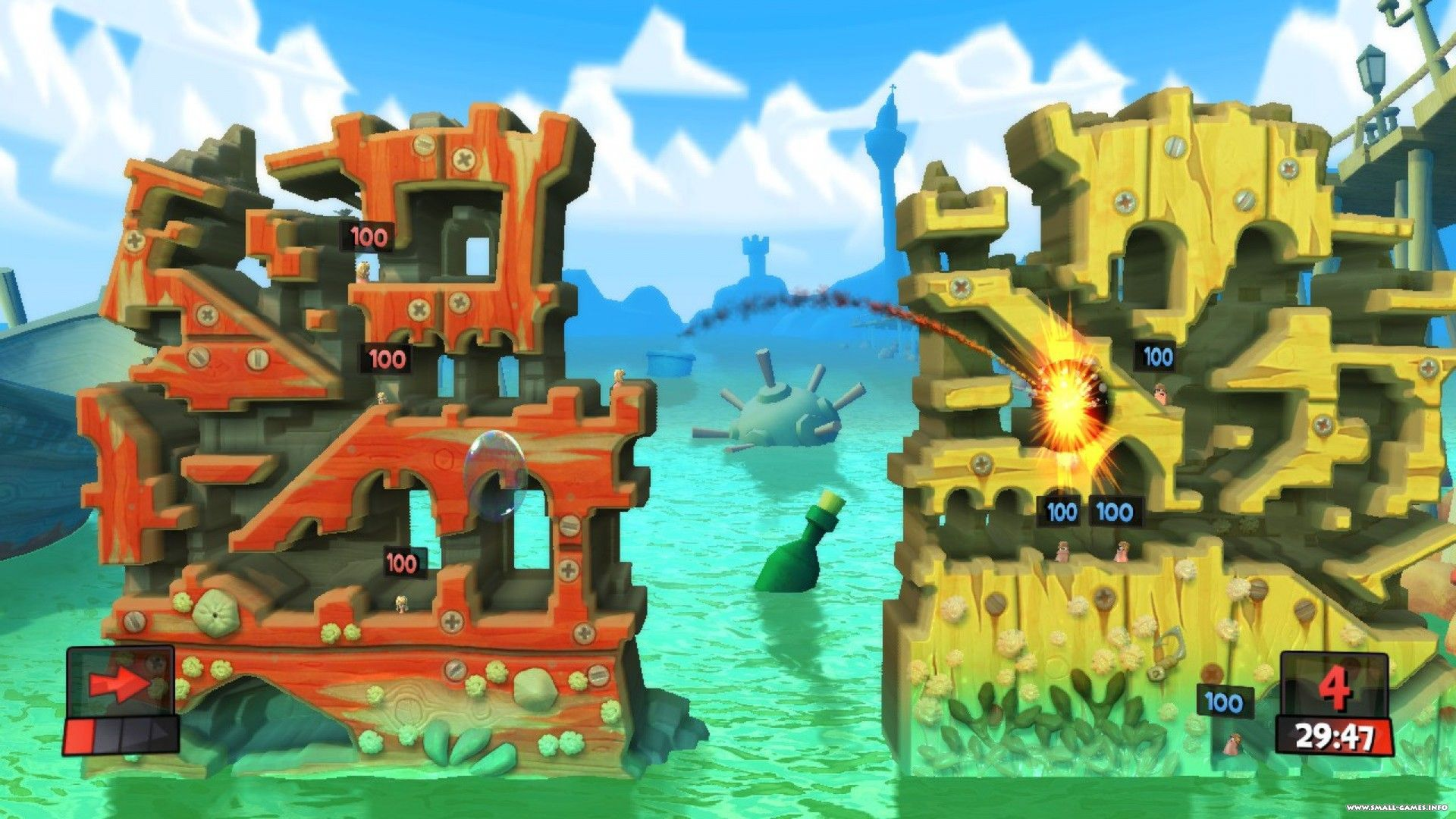 Two classic worms games come together for worms: the revolution.