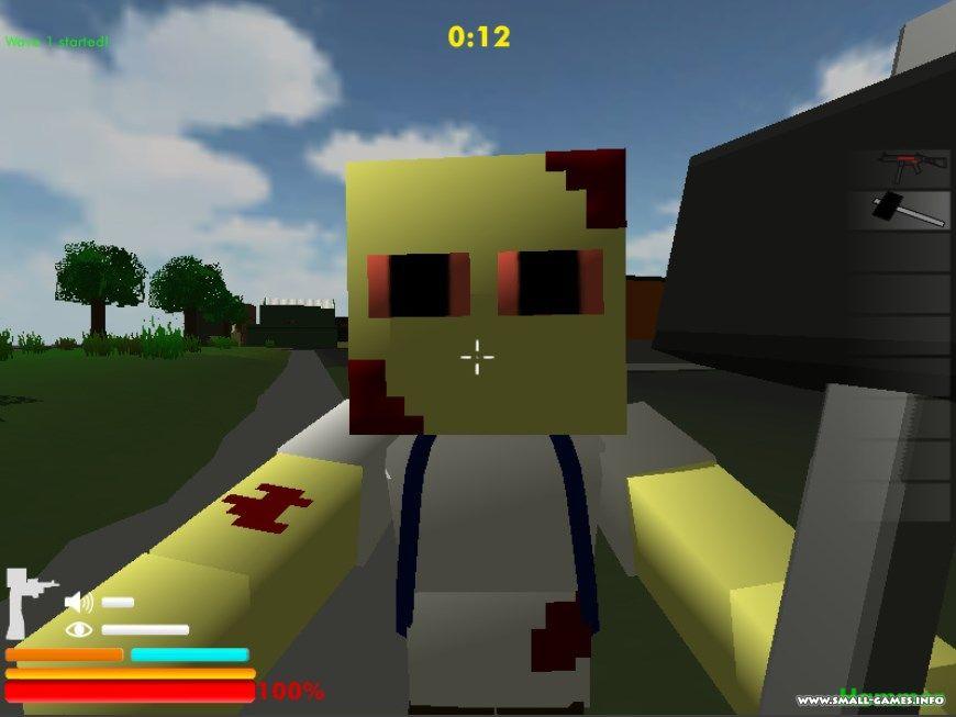 играть в майнкрафт игру зомби блоки бесплатно и онлайн игры minecraft #2