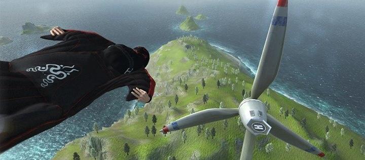 Wingsuitflyer - адреналиновый симулятор свободного падения в костюме белки-летяги!